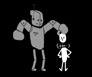 robot gently removes man's head