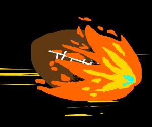 Burning football