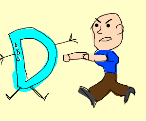 Guy threatening drawception's D