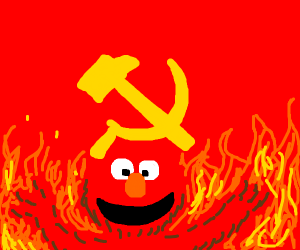Communist Elmo Rises From the Inferno