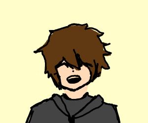 Laughing anime guy