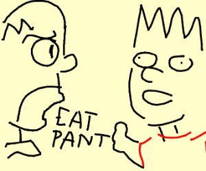 Homer tells bart to eat shorts in a weird way