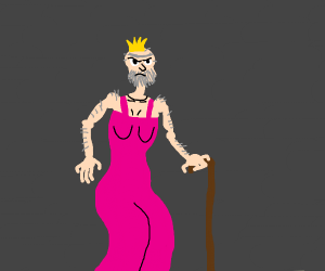 Angry old drag queen