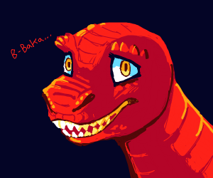 orange dinosaur (make it anime)