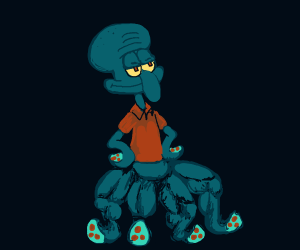 Buff legs Squidward