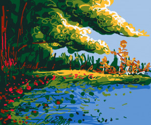 lake by the forest