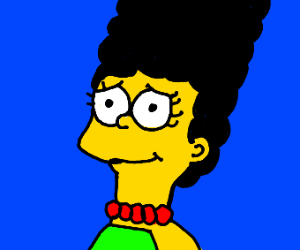 Marge Simpson with black hair