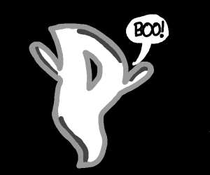 the ghost of the letter D says boo