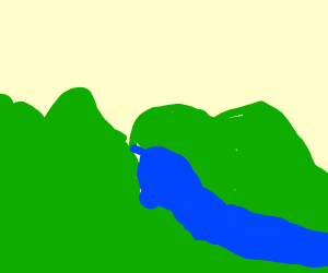 River in  a nice valley