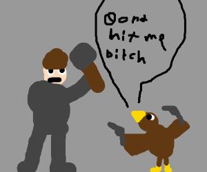 Little brown duck