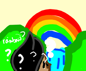 Guy doesn't know what rainbows are