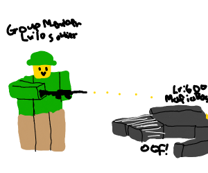 Roblox soldiers kill Roblox mafia boss