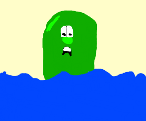 Larry the cucumber is sent to a watery grave