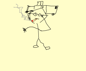 Stinky nerd dude smokes some weed