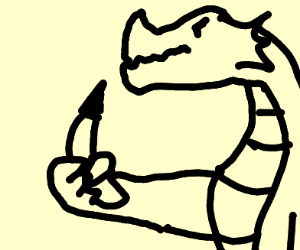 dragon eating a banana