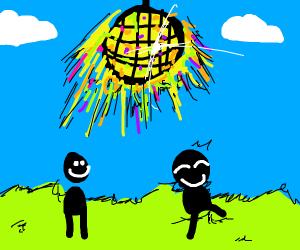 the sun is a disco ball