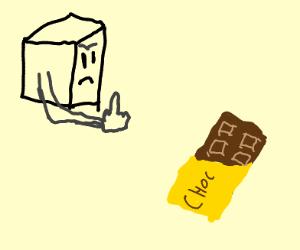 Cube hates chocolates.