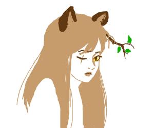 A stray cat girl