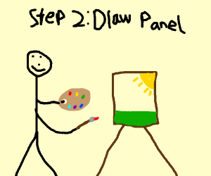 Step 1 I'm currently on Panel 1
