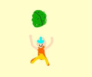 Aang found the cabbage