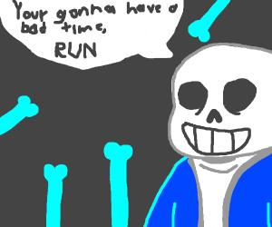 Sans Undertale plays Smash Ultimate - Drawception