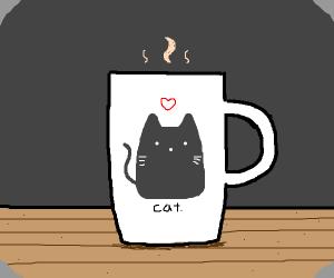 a cat cup/glass