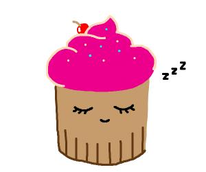 sleeping cupcake