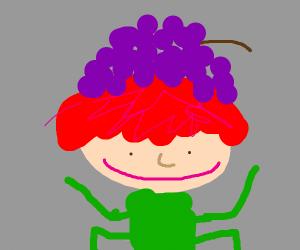 Emo Goblin wearing a grape hat