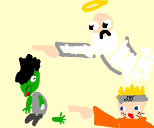 Emo zombie compelled by god and anime