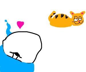 Sans has a crush on Garfield