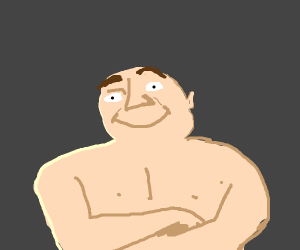 Gru without a shirt