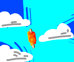 a Popsicle melting in the sky.