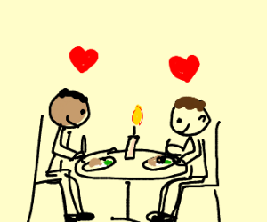 Candlelight dinner date