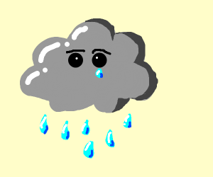 rain clouds crying