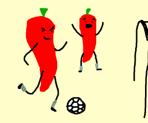 Peppers play soccer