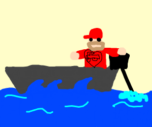 Truck Driver on a Boat