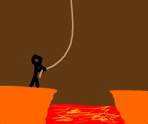 Rope Swing Over Lava