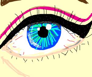 pretty dramatic eyeliner