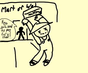 scarecrow shoplifting