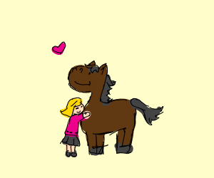 A friendly horse.