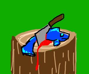 butchered fish