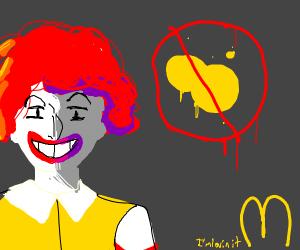 McDonald's bans yellow