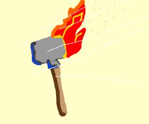 Burning Sledgehammer