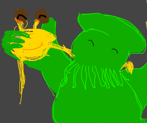 Spaghetti monster and Cthulhu are BFFs