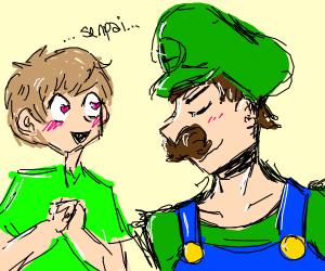 Shaggy x Luigi (please no nsfw man)