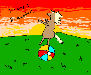 Jammes Baxter the horse rides off into sunset