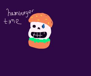 hamburger sans