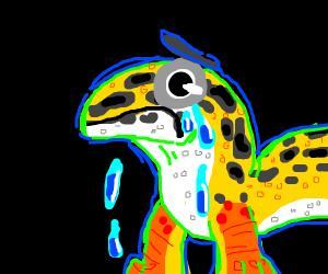 sad lizard :'(