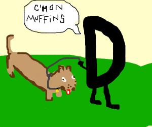 D walks his new dachshund, Muffins