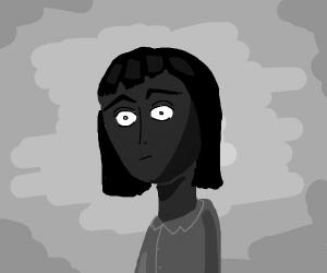 White eyes on a dark face